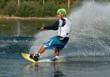 Geschicklichkeit und Schnelligkeit bei den Wakeboard Meisterschaften (Bild: smoo Gmbh / RockOn.de)