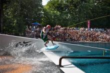 Sprünge, Stunts und Pirouetten auf dem Wakeboard gibt's am 18. Juni.