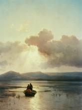 """Pieter Lodewyk Kuhnens """"Landschaft mit See und Kahn"""" ist im Wallraf-Richartz-Museum zu sehen. (Foto: wallfar-Richartz-Museum & Fondation Corbound)"""