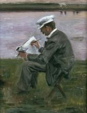 "Sonderausstellung Wallraf-Richartz-Museum Lovis Corinth, ""Der Maler"", 1900"
