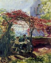 """Max Slevogt """"Weinlaube in Neukastel"""", 1917"""