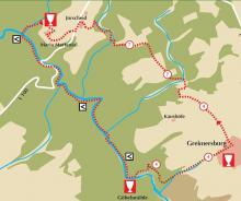 Der Streckenplan (Karte: Rüffer/Rüffer-Lukowicz)