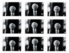 Fotografien von Ingeborg Lüscher, die den Künstler Andy Warhol zeigen. (Bild: Cenral AG)