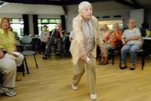 Turnierteilnehmerin Erika Reimert (89) beim Wettkampf (Foto: ddp)