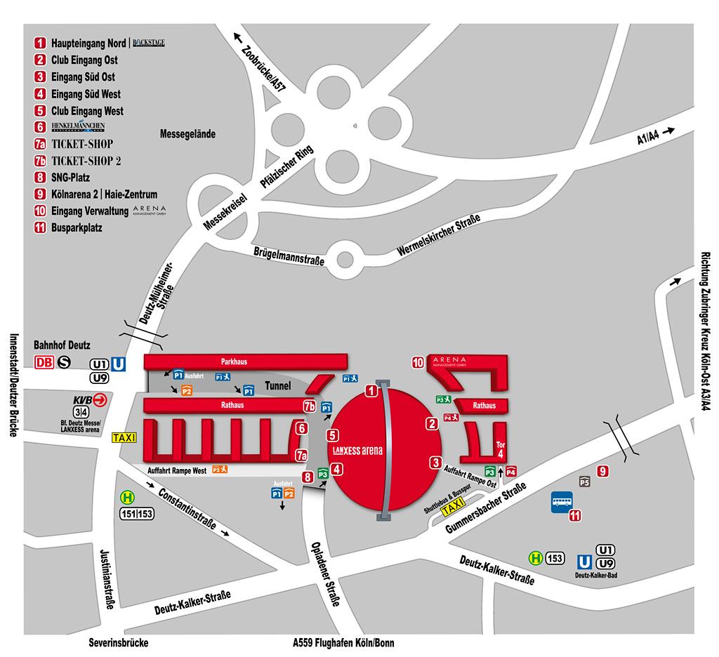 Anfahrt Zur Lanxess Arena Mit Bus Und Bahn Koelnde