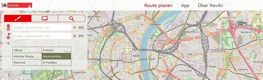 Fahrradstrecken Köln
