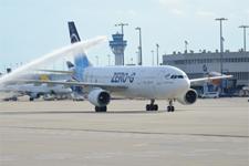 Parabelflugzeug dauerhaft am Airport Köln/Bonn ausgestellt